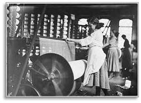 Farm girls working in the New England textile mills