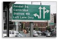 Boston, street sign, traffic