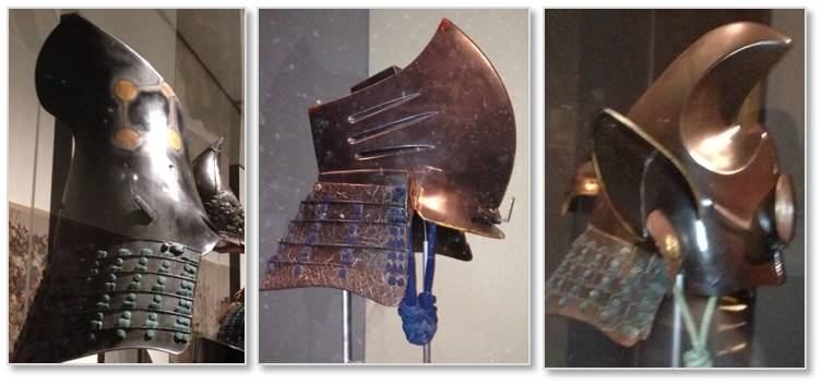 Samurai helmets, Ann and Gabriel Barbier-Muller collection, Museum of Fine Arts