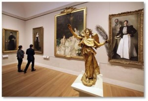 Art Museums: Metropolitan Museum, The Met, American Wing, Ninteenth Century Portraits, Augustus St. Gaudens, John Singer Sargent