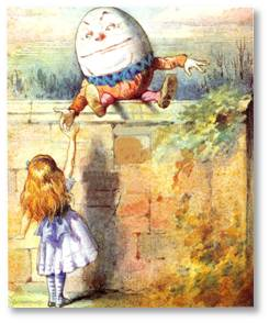 We wake up inspired, filled with the certainty that all the kings' horses and all the kings' men can put Humpty Dumpty back together again.