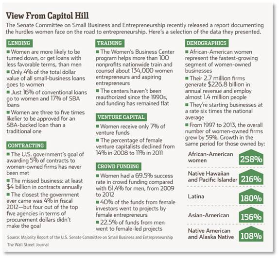 The Wall Street Journal, Senate Committee on Small Business and Entrepreneurship, Startup Gender Gap