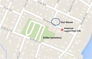 Somerset, American Legion Hall, Gibbs Cemetery