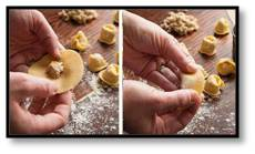 cappeletti, making cappeletti, turkey soup with cappeletti