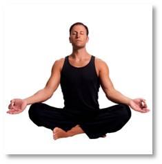 man meditating, meditating man