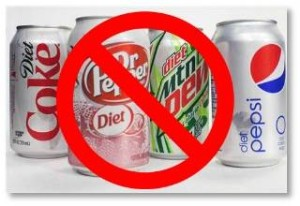 no diet soda, diet soda cans, aspartame