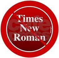 No Times New Roman Font