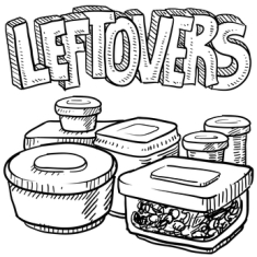 There are leftover lovers and leftover evaders. I'm in the first category, and since we've just celebrated one of the biggest leftover-producing meals of the year there are plenty of them stashed in the fridge waiting for their second coming.