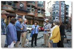 As one of over 200 @BostonByFoot volunteers, you will be joining a vibrant community of lifelong learners, an educated and engaged group of folks who love to share their passion for Boston. Our wide range of tours includes explorations of Boston's neighborhoods, deep examinations into many historical topics and even an Architecture Cruise on the Charles River and Boston Harbor.
