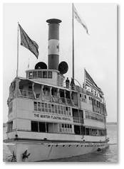 The Floating Hospital is located on Washington Street only blocks away from his original location. The institution did gets its start in 1894 as a hospital ship sailing around Boston Harbor where the ocean air was thought to be beneficial for children