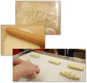 Suze will be back with her usual insightful commentary next week. In the meantime, here are some pictures of her making puffy, buttery, golden croissants along with the yummy finished product.