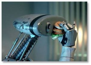 The robot chronicles. My fellow blogger, David Hunt, and I both find ourselves concerned about the proliferation of robots and the human jobs they are designed to take over. While the tech media applaud each new innovation, seemingly just for the sake of innovation, we find ourselves with questions, worries, even existential fears. After all, just because something can be done doesn't mean it should be done.