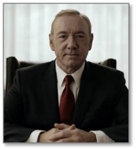 Well, we also know he looks like Frank Underwood on House of Cards—or his British predecessor Francis Urquhart—the quintessential political sociopath. And, thanks to Game of Thrones' Bolton Bastard, we know what happens when a sociopath gains total power.