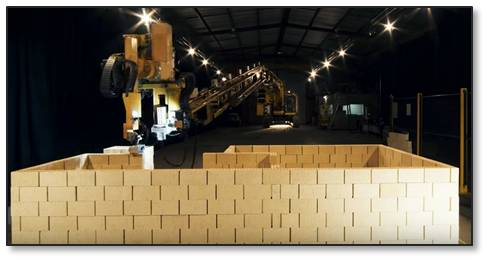 Fastbrick Robotics, an Australian company, has announced a robot that can lay over 1,000 bricks per hour. The Hadrian X can build a house four times faster than human bricklayers.