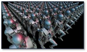 Well, I think one reason we get our undies in a bundle about robots is that we see this army of mechanical men marching to work, standing on production lines and standing behind counters. Somehow that image strikes me as more threatening than the other guises that robots can take. I break these form factors down into three categories: appliances, kiosks and robots.