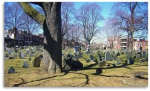 This week I gave a private Dark Side of Boston tour in the morning and that gave me the opportunity to wander afterwards in Copp's Hill Burying Ground. (Plus it gave me a great opportunity to work off the Regina's Pizza I had for lunch.)