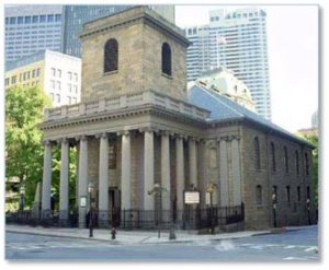 I walked to King's Chapel on Tremont Street in time to buy a ticket for the 2:00 pm tour. Check.