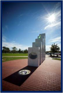 Every year, at exactly 11:11 a.m. on 11/11 the sun aligns perfectly with the Anthem Veteran's Memorial in Arizona to shine through the ellipses of the five marble pillars representing each branch of the Armed Forces, illuminating The Great Seal of the United States.  This is who we are; honoring those who defend our flag and our freedom.