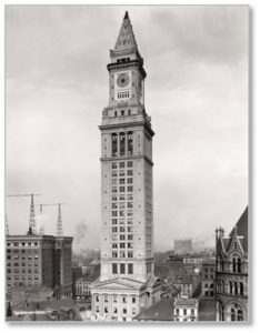 Sure we have the Custom House Tower, now a Marriott Vacaction Club resort, but that went up in 1913. It remained the tallest building in Boston until the Prudential Center (Charles Luckman and Associates) rose to 52 stories in 1954, followed by the Hancock Tower (Henry Cobb of I.M Pei) in 1976.