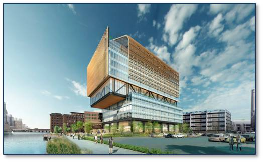 The good news is that General Electric has unveiled a design for its new headquarters on the Fort Point Channel that takes the lid off staid commercial concepts. Designed by San Francisco's Gensler with a Boston office on Beacon Street), this 12-story building looks like it's being unwrapped. Who know what will pop out? It's innovative, bright, clean, and green. More, please.