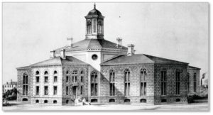 The original Suffolk County Jail was built between 1848 and 1851 from a design by architect Gridley James Fox Bryant in collaboration with Rev. Louis Dwight, a noted prison reformer with whom he shared an office.