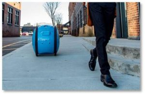 The high-tech innovation is a pair of robots from Piaggio Fast Forward called Gita and Kilo. The difference? Well, Gita's carrying capacity will hold about a case of wine.