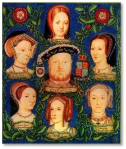 He was survived by his last wife, Catherine Parr. You can remember the six wives by their fates: