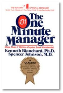 When the One Minute Manager was published in 1982 it sold over 13 million copies. Heavily criticized as a fad and a rip-off of the management by objective process (which emphasized motivation), it offered managers a framework with three focus areas: how to set goals, provide praise, and deal with reprimands (now called redirects).