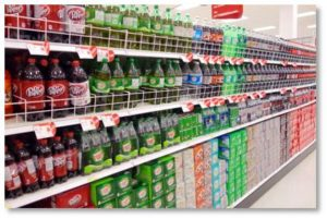 diet soda, supermarket aisle, aspartame