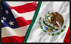 US-Mexican flags