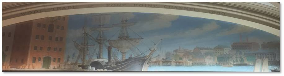 McKay Shipyard mural, Little Building, arcade, Clarence Blackall, Emerson College