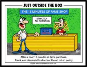 15 minutes of fame shop