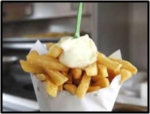 Belgian frites, mayonnaise