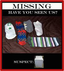 Missing Socks, Have You Seen This Sock