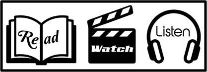 Read-Watch-Listen, Books, Movies, Television, Music
