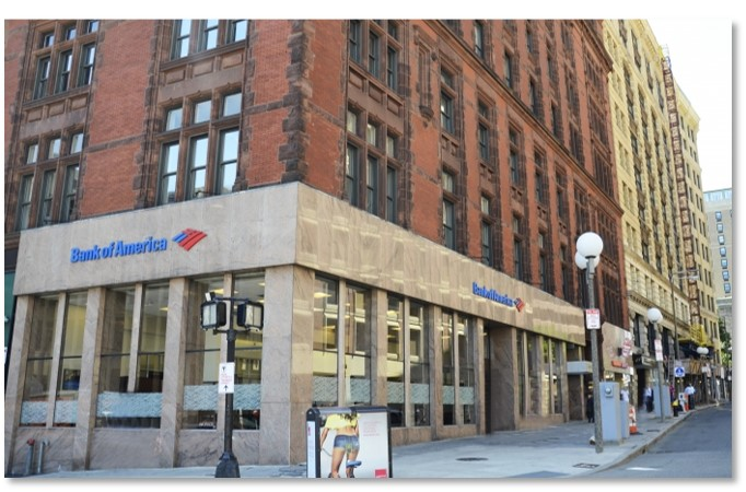 10 Tremont Street, Bank of America, Dunkin Donuts