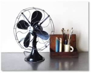 antique rotary fan