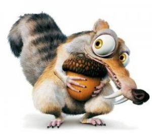 Ice Age Squirrel with Acorn