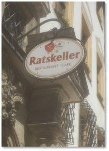 Regensburg Ratskeller, weisswurst. meister metzger