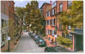 Joy Street. Boston Street, Benjamin Joy, Beacon Hll Proprietors