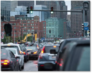 Seaport Boulevard, Boston, traffic, Moakley Bridge