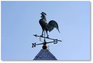 rooster weathervane, regional speech patterns