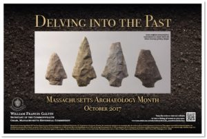 Archaeology Month Poster 2017, Delving Into the Past