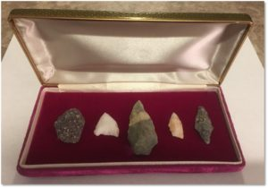 Indian arrowheads, archaeology, F.J. Valente, Archaeology Month