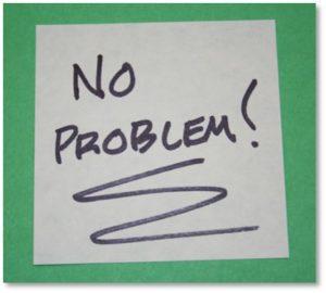 No Problem, Sticky Note