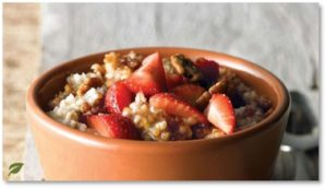 Panera Bread, oatmeal with strawberries, breakfast