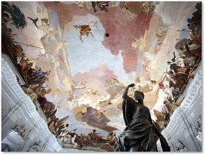 Prince-Bishop's Reisdenz, Wurzburg, Giovanni Battista Tiepelo, Grand Staircase, fresco ceiling
