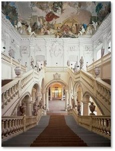 Prince Bishop's Residenz, Wurzburg, Grand Staircase, Tiepolo ceiling