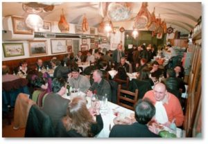 Ristorante Il Latini, Florence, interior, family-style seating