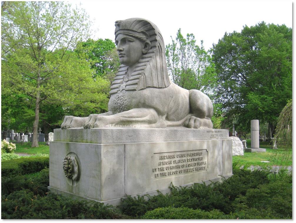 American Sphinx, Martin Milmore, Joseph Milmore, Mount Auburn Cemetery